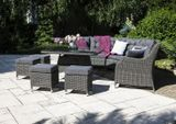 Záhradná ratanová sedacia súprava SIENA sivá