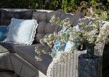 Záhradná ratanová sedacia súprava SIENA biela