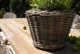 Záhradný ratanový kvetináč GRASSE prírodný