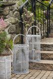 Záhradný lampáš Avignon - prírodný ratan