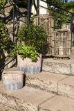 Záhradný lampáš Emilion - prírodný ratan
