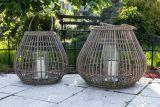 Záhradný lampáš Caen - prírodný ratan