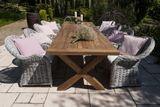 Záhradná jedálenská súprava so stolom LYON TEAK 300 cm I.