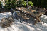 Záhradná teaková jedálenská súprava