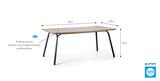 Záhradný stôl SIMI 180CM