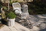 Záhradné hojdacie kreslo MARSEILLE – prírodný ratan
