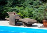 Záhradný ratanový stolík