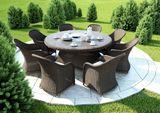 Záhradný okrúhly stôl Rondo z umelého ratanu Ø 180 cm