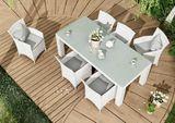 Záhradný ratanový stôl RAPALLO 200 cm biely výpredaj
