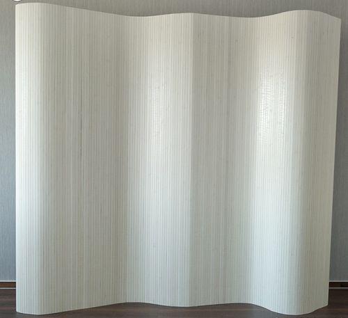 Bambusový paraván biely HS 305