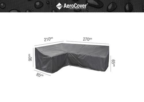 Ochranný kryt na záhradný nábytok L -270x210x85xH65/90 HB prava