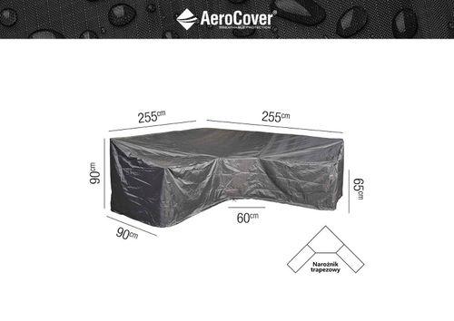 Ochranný kryt na záhradný nábytok L/Trapeze 255x255x90xH65/90 HB