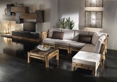Bambusová sedacia súprava KYOTO H