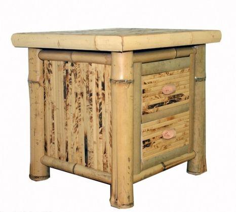 Bambusový nočný stolík FLORES - rôzne farby