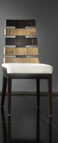 Jedálenská stolička z bambusu CROSS