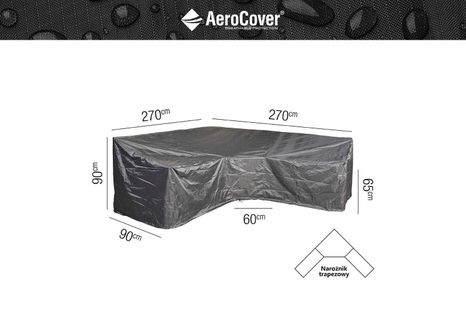 Ochranný kryt na záhradný nábytok L270x270x90xH65/90 HB