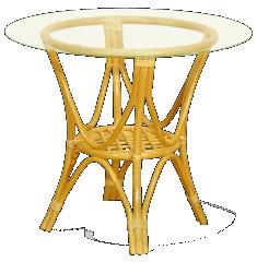 Ratanový jedálenský stolík 22-07