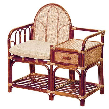 Ratanový stolík so sedadlom 13-02