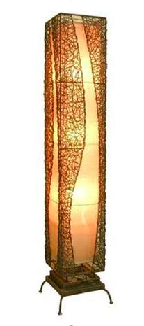 Vysoké stojanové ratanové svietidlo D527