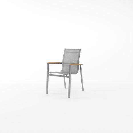 Záhradná hliníková stolička ALICANTE-STONE&TEAK