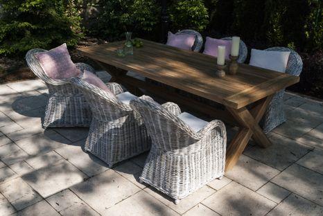 Záhradná jedálenská súprava so stolom LYON TEAK 240 cm I.
