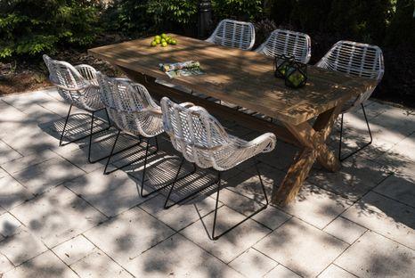 Záhradná jedálenská súprava so stolom LYON TEAK 240 cm II.