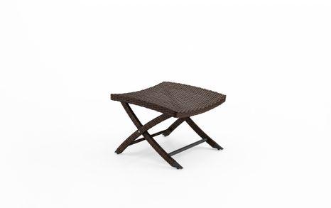 Záhradná podložka a príručný stolík Porto z umelého ratanu