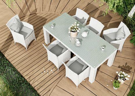 Záhradná ratanová jedálenská súprava RAPALLO 200 cm