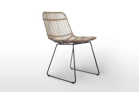 Záhradná ratanová stolička DINAN prírodný ratan