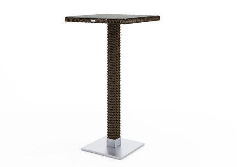 Záhradný barovy stôl QUADRO 60x60x110 cm hnedý výpredaj