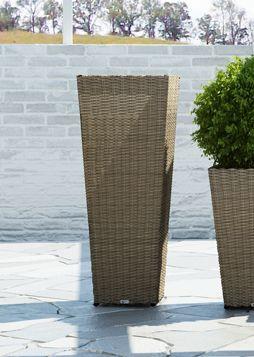Záhradný kvetináč Scaleo 100 cm z umelého ratanu Royal piesok