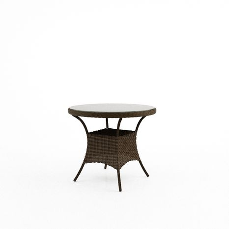 Záhradný ratanový stôl FILIP Ø 90 cm hnedý výpredaj