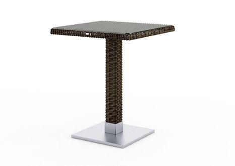 Záhradný ratanový stôl QUADRO 60x60x72 cm hnedý výpredaj