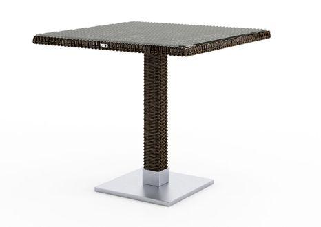 Záhradný ratanový stôl Quadro 80x80x72 cm hnedý výpredaj