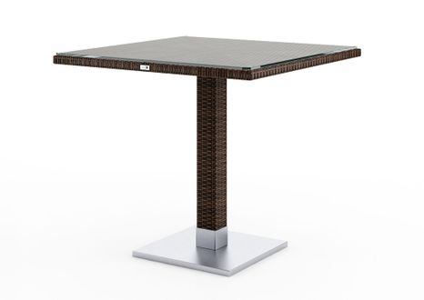 Záhradný ratanový stôl Quadro 80x80x72 cm modern výpredaj