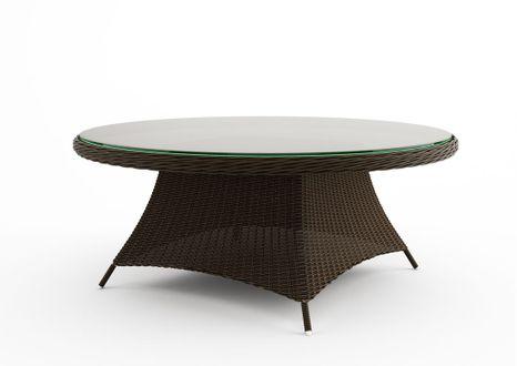 Záhradný ratanový stôl RONDO Ø 180 cm hnedý výpredaj