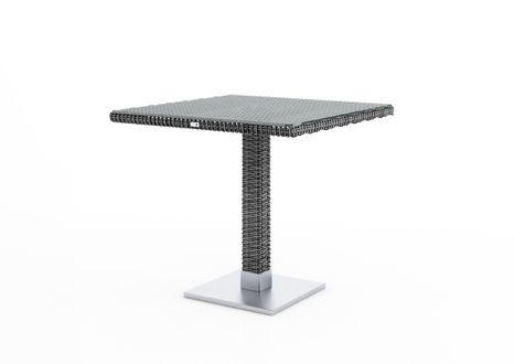 Záhradný ratanový stôl Quadro 80x80x72 cm