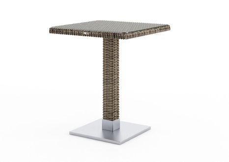 Záhradný stôl z umelého ratanu QUADRO 60x60x72 cm