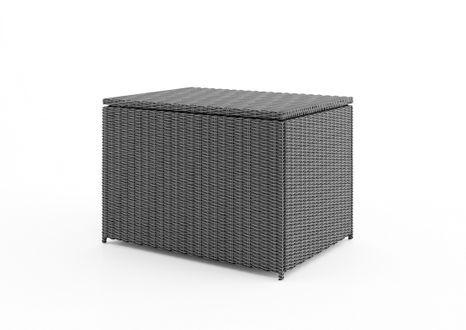 Záhradný ratanový box Scatola 100 cm šedý