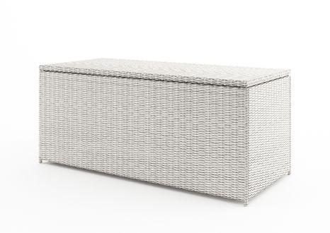 Záhradný ratanový box Scatola 160 cm biely