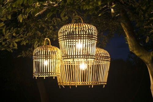 Záhradná lampa TOULOUSE - bambus