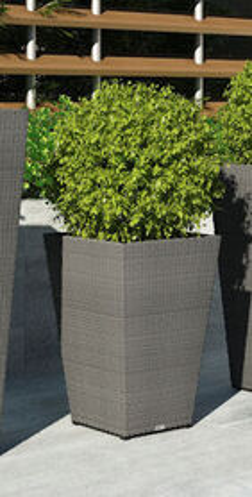 Záhradný kvetináč Scaleo 60 cm z umelého ratanu Royal šedá