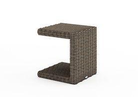 Záhradný ratanový stolík Romeo piesok