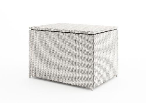 Záhradný ratanový box Scatola 100 cm biely